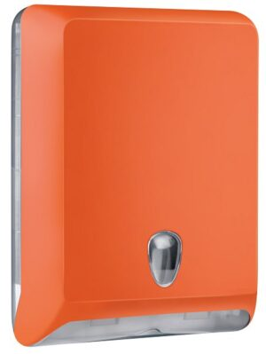 DISPENSER TOALHAS ABS MG-103 ORANGE - SÉRIE LUXO ABS COLOR - ZIG ZAG